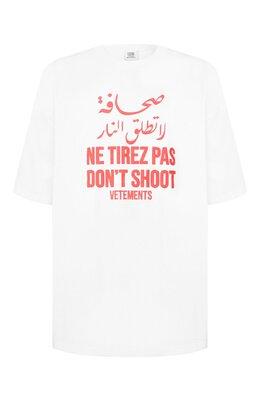 Хлопковая футболка Vetements SS20TR426 1621/M