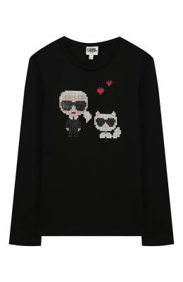 Хлопковый лонгслив Karl Lagerfeld Kids Z15248