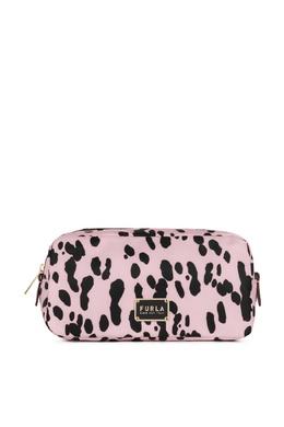 Розовая косметичка с принтом Furla 1962186057