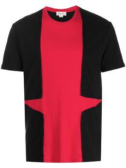 Alexander McQueen футболка с контрастной вставкой 607961QOX04