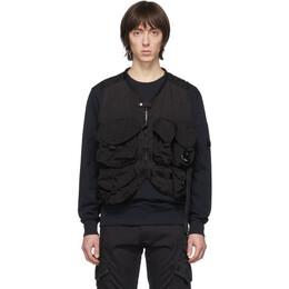 C.P. Company Black 50 Fili Zip Up Vest 08CMOW023A-005153G