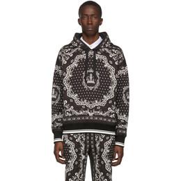 Dolce&Gabbana Black and White Bandana Hoodie G9OL1T F17HP