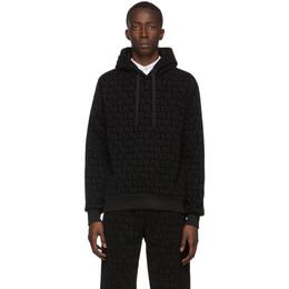 Dolce&Gabbana Black Flocked Print Hoodie G9QU3T G7VDB