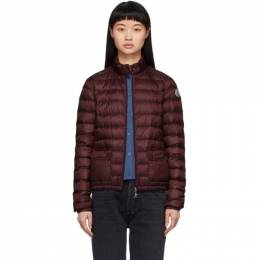Moncler Burgundy Down Lans Jacket F10931A1010053048