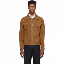 Diesel Brown Leather L-Dean Jacket 00SIMS 0WAWM