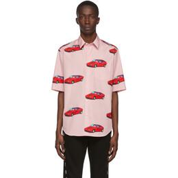 Versace Pink Car Print Shirt A85144 A234195