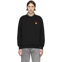 Ami Alexandre Mattiussi Black Smiley Sweatshirt SMIJ009.730