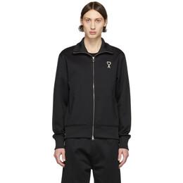 Ami Alexandre Mattiussi Black Ami De Coeur Zip Track Jacket E20HJ011.742