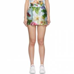 Dolce&Gabbana Blue Floral Shorts FTBRVT IS1AS