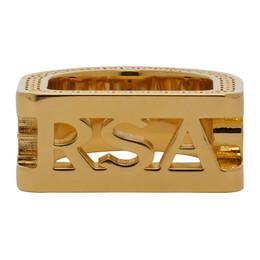 Versace Gold Cut-out Logo Ring DG58034 DJMT