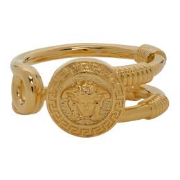 Versace Gold Safety Pin Ring DG57931 DJMT