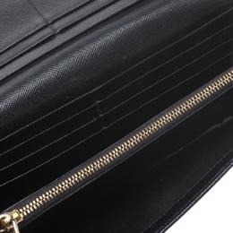 Prada Black Saffiano Leather Continental Wallet 269867