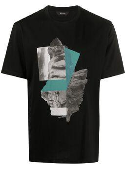 Z Zegna футболка с графичным принтом VU372ZZ630S
