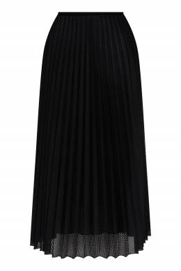 Плиссированная юбка с перфорированием Moncler 34186468