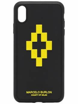 Marcelo Burlon County Of Milan чехол для iPhone XS Max с логотипом CMPA012S20MAT0091015