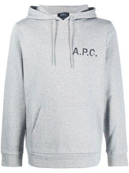 A.P.C. худи с кулиской и логотипом COECQH27582