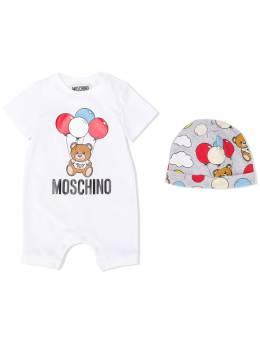 Moschino Kids ромпер с логотипом MUY02QLBA00