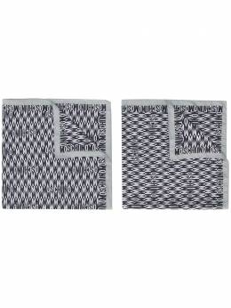 Moschino шарф с логотипом 50141M5341