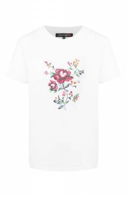 Хлопковая футболка Terekhov Girl 2TSH011/ER/5850.100/S20