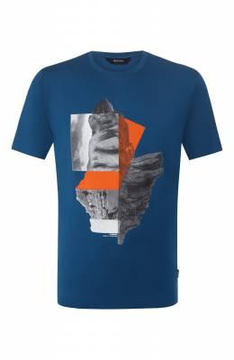 Хлопковая футболка Z Zegna VU372/ZZ630S