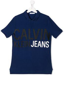 Calvin Klein Kids рубашка-поло с короткими рукавами и логотипом IB0IB00379