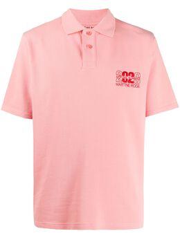 Martine Rose рубашка-поло с вышитым логотипом MRSS20903PPEACH