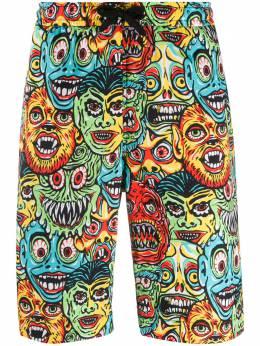 Moschino плавки-шорты с принтом Monsters A03460251