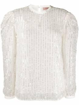 Twin-Set блузка с длинными рукавами и вышивкой 201TP2050