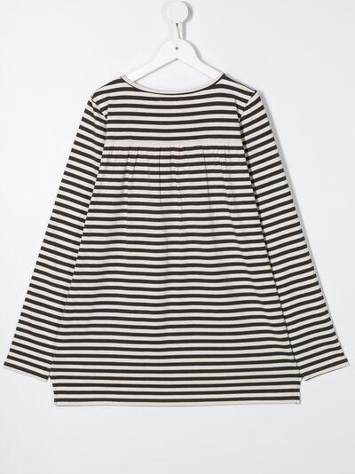 Douuod Kids расклешенная футболка в полоску TE111230 - 2