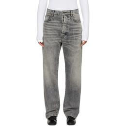 Unravel Black Baggy Boy Jeans UWYA005R20DEN0021000