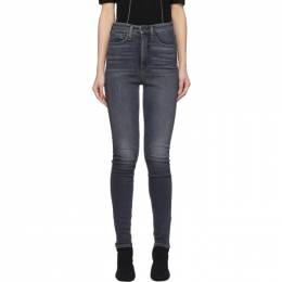 Rag&Bone Black Super High-Rise Jane Jeans WDD19H2667CUA
