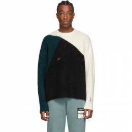 A-Cold-Wall* Off-White Colorblocked Rib Sweater ACWMK009WHL