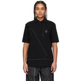 A-Cold-Wall* Black Rhombus Badge Polo ACWMSH014WHL