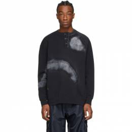 A-Cold-Wall* Black Over Spray Buttoned Sweatshirt ACWMW007WHL