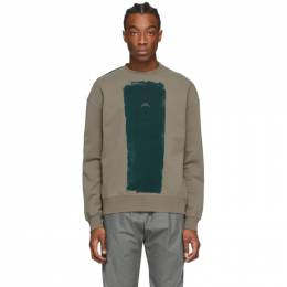 A-Cold-Wall* Grey Block Painted Sweatshirt ACWMW004WHL