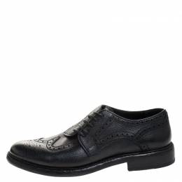 Burberry Black Brogue Leather Rayford Derby Size 43 270615