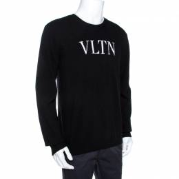 Valentino Black VLTN Knit Long Sleeve Sweater XL