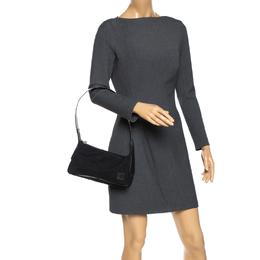 Bally Black Nylon and Leather Shoulder Bag 270193
