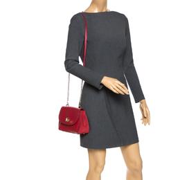 Coach Red Leather Turnlock Shoulder Bag 270341