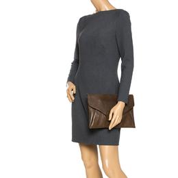 Givenchy Brown Leather Antigona Envelope Clutch 270323
