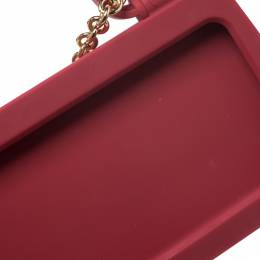 Dolce&Gabbana Red Rubber Sicily iPhone X - XS Chain Case 270254