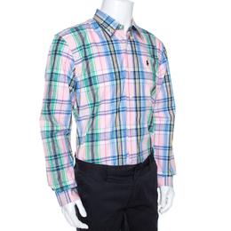 Ralph Lauren Multicolor Madras Check Cotton Custom Fit Shirt XL 269971