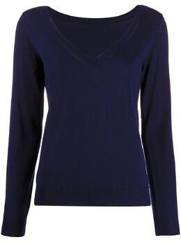 P.a.r.o.s.h. трикотажный свитер с V-образным вырезом в рубчик D511572LAPSUS