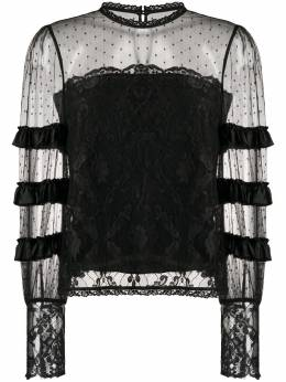 Temperley London ярусная кружевная блузка 20SFCE53464