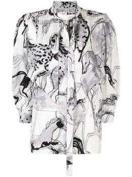 Stella McCartney блузка с принтом 599776SOA12