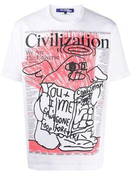 Junya Watanabe Man футболка с принтом WET003S20