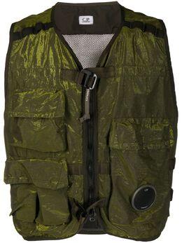 C.P. Company sleeveless zip-up military jacket 08CMOW311A005686G