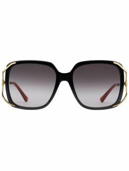 Gucci Eyewear солнцезащитные очки в круглой оправе 610396J0770