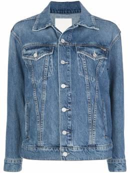 Mother джинсовая куртка с пуговицами на рукавах 3911313