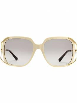 Gucci Eyewear солнцезащитные очки в массивной круглой оправе 610396J0770